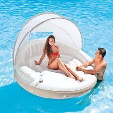 Intex Inflatable Sofa Uk by Intex 58292 Canopy Island Inflatable Air Lounge Pool Beach