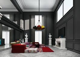 wohnzimmer mit hoher decke sorgt für luxusgefühl trendomat