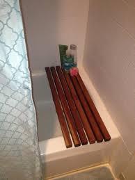 Diy Bathtub Caddy With Reading Rack by Diy Wooden Tub Caddy Do It Your Self