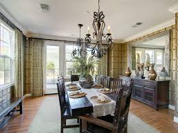 Magnificent Mirrored Buffet In Dining Room Contemporary With Chandelier Ideas Next To Table Runner Alongside Mirror Above Console And