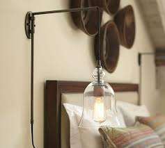 Pottery Barn Bedroom Ceiling Lights by Madison Glass Pendant Sconce Pottery Barn Master Bedroom