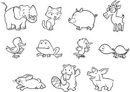 Free Coloring Pages Of Animals Baby