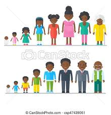 Mixed black family multicultural ethnic people flat vector