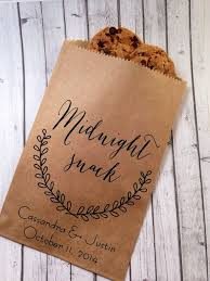 Wedding Cookie Bags Candy Buffet Sacks Custom Favors 25 Cake Recycled Brown Paper Personalized Printed Sack