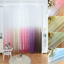 vorhang schlaufenschal gardinen farbverlauf wohnzimmer