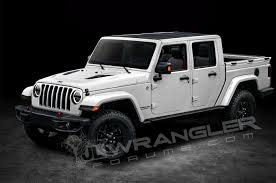 2018 Jeep Wrangler Four Door Pickup Truck Rendering 07 - Motor Trend