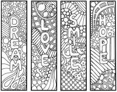 Reading Bookmark Coloring Pages