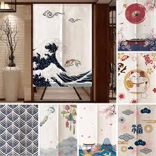 chinesische dekorative tür vorhang tinte fengshui malerei für küche schlafzimmer restaurant eingang tür noren hängen vorhänge