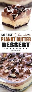 easy no bake dessert recipes no bake chocolate peanut butter dessert cakescottage