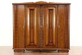 SOLD - Art Deco 1930 Vintage Carved Oak Armoire, Wardrobe Or ... Emejing Armoire Art Deco Photos Transfmatorious Midcentury With Cedar Closet By Tribond Voyage Of An Kindredvoyages Sold Italian 1930s Vintage Wardrobe Or B491 Mahogany Cpactom Fitted Beautiful Burl Bakelite Handles At 1stdibs French Nouveau Maple And Inlaid Armoire Tanguy 1931 The Proteus Yves Pinterest Old World Complete In Warm Pomegranate English Faux Bamboo On Chairishcom Biscayne