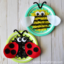 Paper Plate Insect Sewing Craft