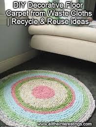 DIY Decorative Floor Carpet From Waste Cloths