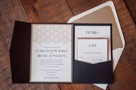 Wedding Invitations Folders Unique Great Gatsby Wedding Invitation