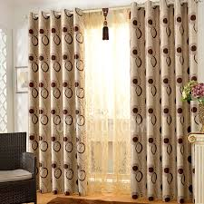 Geometric Pattern Grommet Curtains by Gold Tree Pattern Thick Suede Thermal Blackout Curtains In Dark