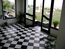 Lobby Of Hari Niwas Palace Hotel Jammu In Black And White Terrazzo Checkerboard Pattern
