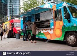 100 Food Trucks In Atlanta GA USA October 16 2014 Customers Order Meals From A