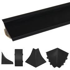abschlussleiste küche arbeitsplatte küchenleiste schwarz