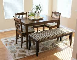 Bench Table Superb Dining Ladder Back Chairs Upholstered Room With