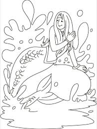 Mermaid Enjoying The Water Coloring Page