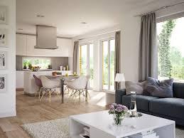 wohnzimmer ideen modern mit offener küche essbereich