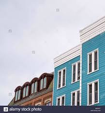100 Sliding Exterior Walls Square Frame Residential Building With Blue Exterior Wall And