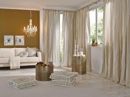 wohnzimmer gardine beige vielfältige plissees