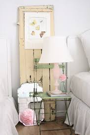 BedroomsLovely Shabby Chic Bedroom With White Bed And Vintage Table Also Floral Curtains