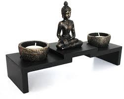 deko buddha auf podest teelichthalter zen garten nr yd 41