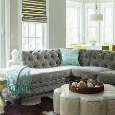 Grey Sectional Living Room Ideas by Home Design Clubmona Endearing The Modern Grey Velvet Sectional
