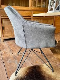 stuhl fano drehbar samt grau silber esszimmer drehstuhl neu
