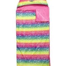 Justice Bedroom Accessories Rainbow Critter Hooded Sleeping Bag From Lazy