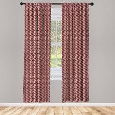 gardine fensterbehandlungen 2 panel set für wohnzimmer schlafzimmer dekor abakuhaus rot cutrvy gewellte linien dunkle fliesen kaufen otto