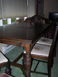 Circa 1940 Mahogany Dining Table With 4 Chipendale-style ...
