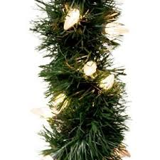 Home Depot Ge Pre Lit Christmas Trees by Ge 18 Ft Holiday Classics Artificial Garland With 50 C6 Clear