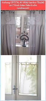 vorhang ny grau gardine 70x240 cm 2 stück volan deko