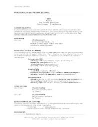 Resume Qualification Examples Skills On Job List Of For A Example Qualifications