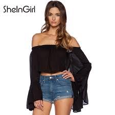 online get cheap black ruffle blouse women aliexpress com