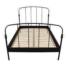 62 off ikea ikea svelvik full size black bed frame beds