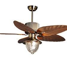 51 ceiling fan light 5 blades study room bronze ceiling fan glass