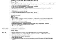 Activity Leader Resume Sample Other Activities In