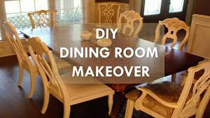 Living Room Table Sets Painting DIY Dining Makeover Just Chalk Paint Fabric YouTube