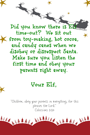 letter from elf on the shelf Google Search