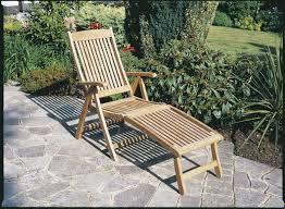 teak recliner with footrest bridgman