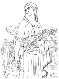 Coloring Pages Ruth And Naomi Christianity Bible