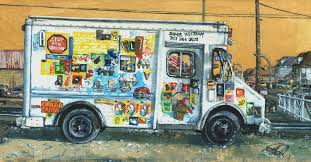 Painting Of Ice Cream Truck - Painting Ideas