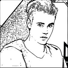 Coloring Sheets Print Page Pages Pictures Justin Bieber 2012 Book Cartoon