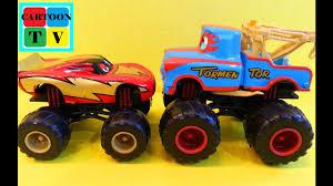 Lightning McQueen Mater Wrestling Cars Disney Pixar Monster Trucks ...