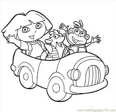 Dora Picture 2 Coloring Page