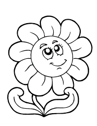 Flowers Coloring Pages For Kids Flower Printable Free Here