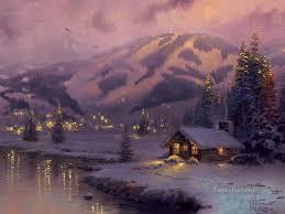 Thomas Kinkade Christmas Tree Cottage by Thomas Kinkade Paintings For Sale